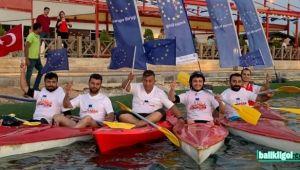 Urfa'da 2. Avrupa Spor Festivali'nde Kano Yarışı yapıldı