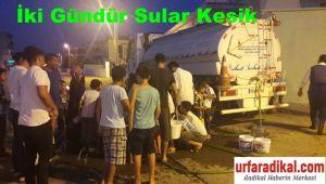 İki Gündür Sular Akmıyor Mahalleli İsyan Etti, Şuski Tankerle Su Dağıtmaya Başladı