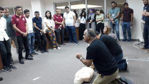 112 Acil Çağrı Merkezi Personeline Yangından Korunma Eğitimi Verildi