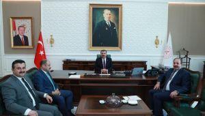 Şanlıurfa AK Parti İl başkanı ve vekiller, Sağlık Bakanı Koca'yla görüştü
