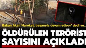 Barış Pınarı Harekatı'nda son dakika! Bakan Akar öldürülen terörist sayısını açıkladı