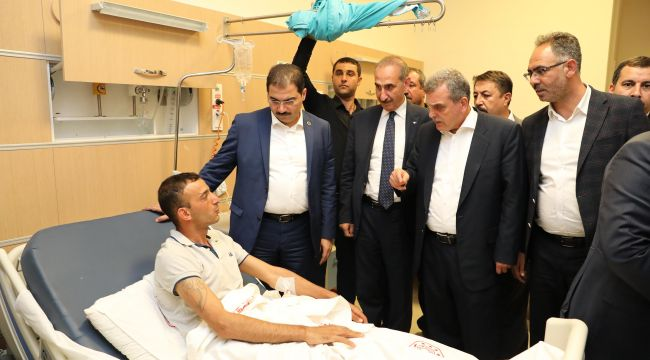 Başkan Canpolat, Yaralıları Ziyaret Etti