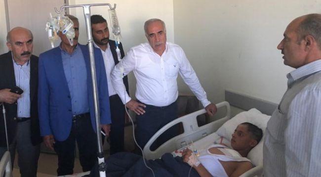 CHP'li Vekil Viranşehir'de Yaralıları Ziyaret Etti
