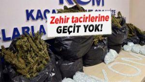 Urfa'da talaştan kilolarca uyuşturucu çıktı (VİDEOLU)