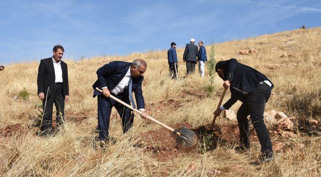 Başkan Bayık 'Geleceğe Nefes' için Fidan Dikti