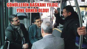 Başkan Yıldız, Şehir içi otobüse binerek vatandaşla sohbet etti