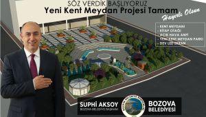 Yeni Bozova Meydanı Projesi Tamam