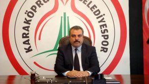 Karaköprü Belediyespor Kulüp Başkanı Kayral'dan Ramazan Bayramı mesajı