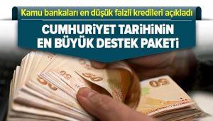 Kamu Bankalarından Tarihin En Düşük Faizi..