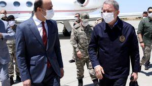 Milli Savunma Bakanı Akar ve Kuvvet Komutanları Şanlıurfa Valiliğini Ziyaret Etti