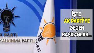 8 Belediye Başkanı Ak Partiİ'ye Geçti