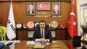 Ak Parti Şanlıurfa İl Başkanı Bahattin Yıldız'dan 15 Temmuz Mesajı