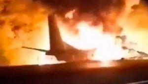 Askeri uçak düştü çok sayıda ölü ve yaralılar var