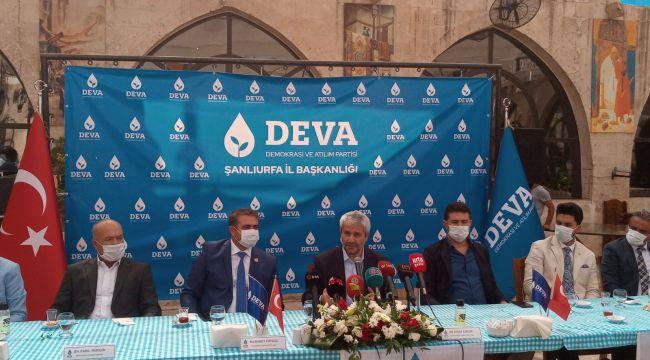 Şanlıurfa Deva Partisi, Nihat Ergün'ün Katılımıyla Basın Toplantısı Gerçekleştirdi
