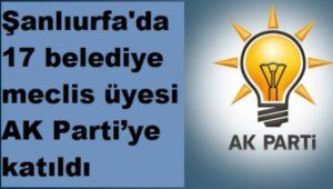 17 Meclis Üyesi Partilerinden İstifa Ederek AK Partiye Katıldılar