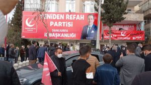 Yeniden Refah Partisi Genel Başkanı Fatih Erbakan Şanlıurfa'ya geldi