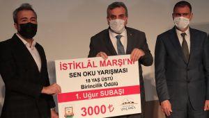 'İstiklâl Marşı'nı Sen Oku' Yarışmasının Kazananları Ödüllerini Aldı