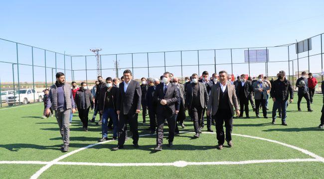 Karaköprü Kırsalında Spor Yatırımları Sürüyor