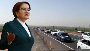 Şanlıurfa'da yüzlerce araçlık konvoyla karşılandı
