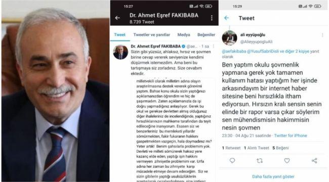 Fakıbaba'dan Eyyüpoğlu'na cevap gecikmedi : Mahkemeye Başvuracağım