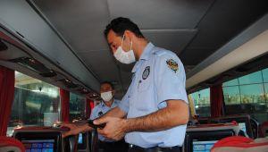 Büyükşehir Zabıtadan Otogarda Aşı Kartı Ve PCR Testi Denetimi