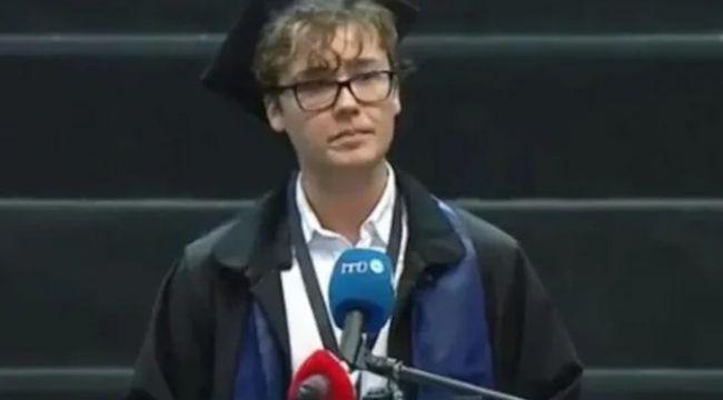 İTÜ birincisi Umutcan Ay'ın mezuniyet konuşması sosyal medyayı yıktı geçti