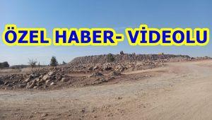 Şanlıurfa Şehir Hastanesi inşaatında Hafriyat atığından dağ yığını oluşturuluyor (Videolu)