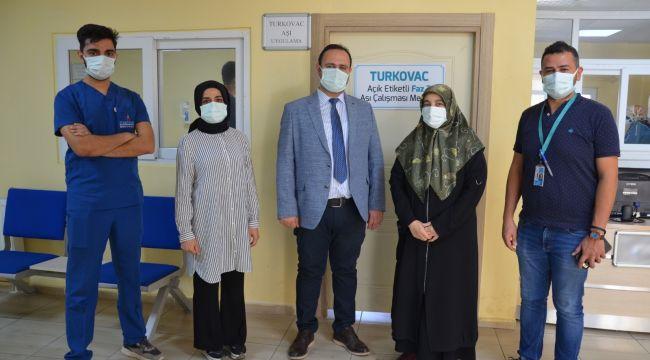 Turkovac Aşı Merkezinde İlk Aşı Uygulaması Yapıldı